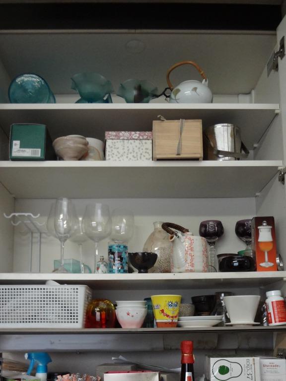 SHIORINAのお片付けサポートキッチン上部・食器棚BEFORE画像