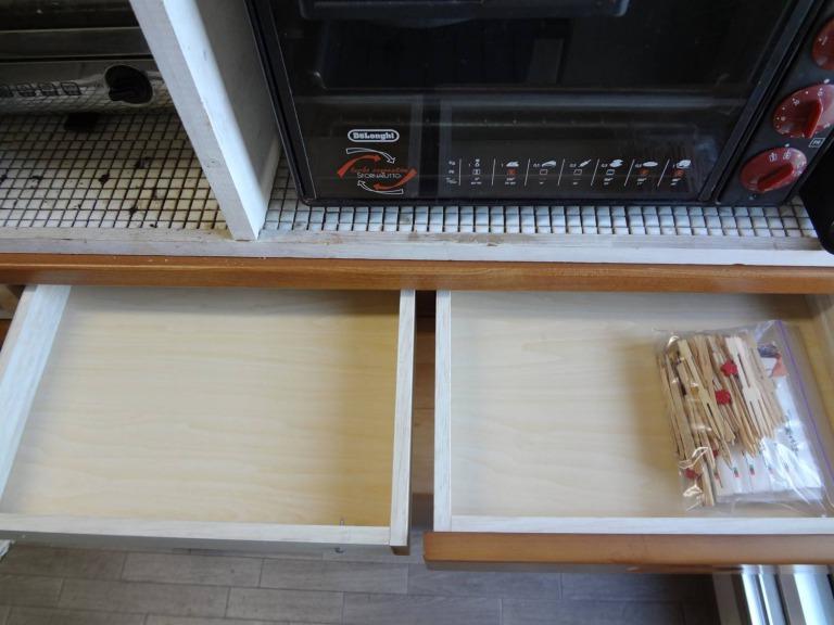 SHIORINAのお片付けサポートキッチンレンジ台引き出し1段目AFTER画像
