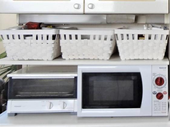 SHIORINAのお片付けサポートキッチン電子レンジ上部AFTER画像