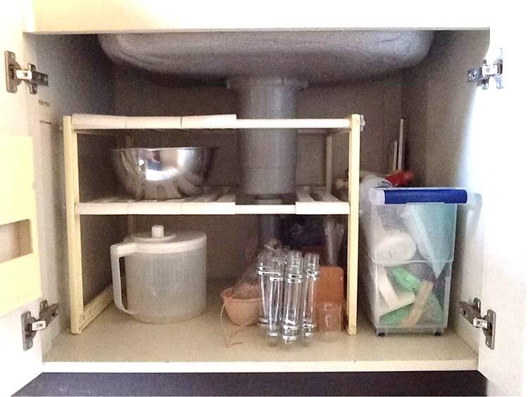 SHIORINAのお片付けサポートキッチンシンク下AFTER画像