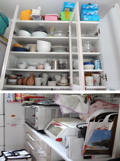 SHIORINAのお片付けサポートキッチン食器棚大BEFORE画像